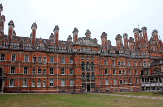 A bit more of The Founder's Building, Royal Holloway: Egham, Surrey.